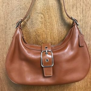 Coach Classic Brown Leather Buckle Demi Purse